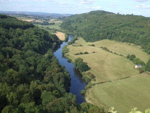 The photo is taken from Symond's Yat Rock and shows the meandering Wye far below