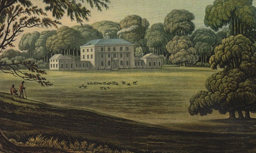 The house in the early 19th century.